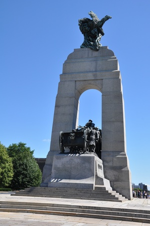 National War Memorial in Ottawa, Canada Banque d'images - 117387612
