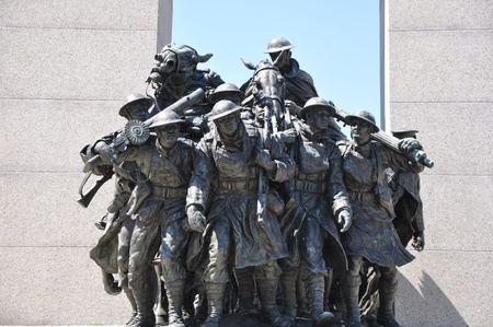 National War Memorial in Ottawa, Canada Banque d'images - 117387625