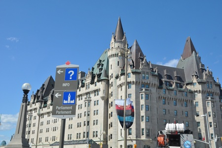 Chateau Laurier in Ottawa, Canada Banque d'images - 117387591