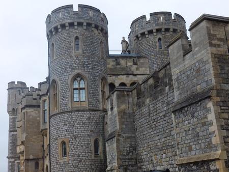 large doors: Windsor Castle in England