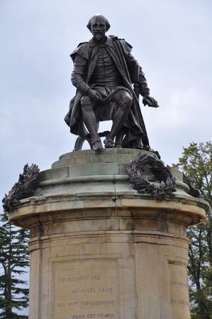Shakespeare Statue in Stratford-upon-Avon Stok Fotoğraf