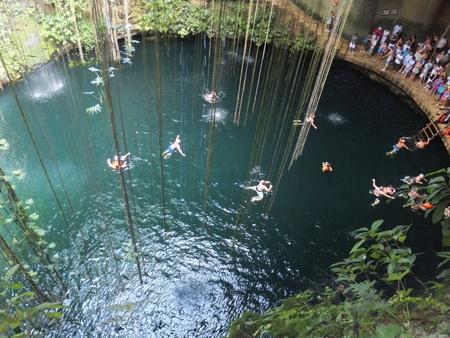 Ik-Kil Cenote near Chichen Itza, Mexico