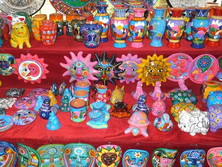 handicrafts: Mayan Handicrafts in Mexico Stock Photo