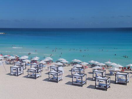 Beach in Cancun, Mexico photo