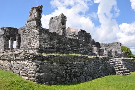 Tulum Mayan Ruins in Mexico Standard-Bild