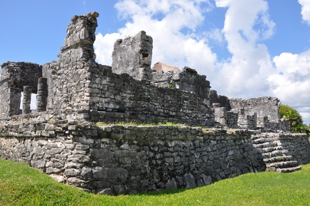Tulum Mayan Ruins in Mexico Stock Photo