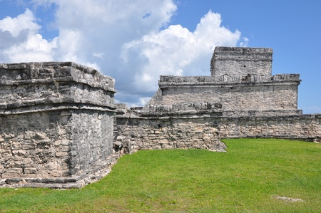 Tulum Mayan Ruins in Mexico Stock Photo