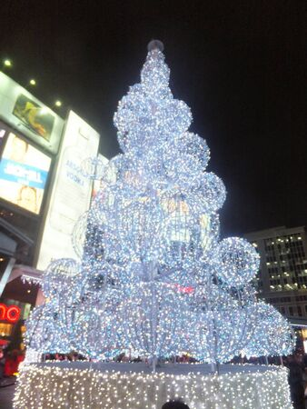 TORONTO - NOVEMBER 19: Illuminite, a Winter Magic Holiday event, on November 19, 2011 at Yonge-Dundas Square in Toronto, Canada Stock Photo - 11260316