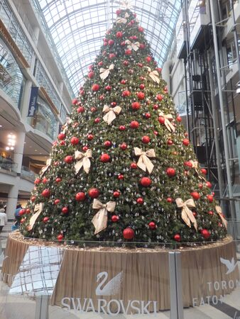 bustle: TORONTO - NOVEMBER 18: Christmas decorations unveiled at the Eaton Centre on November 18, 2011 in Toronto, Canada