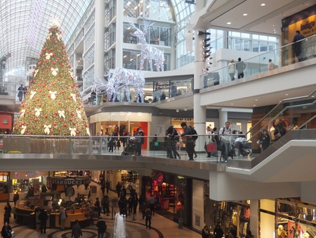 TORONTO - NOVEMBER 18: Christmas decorations unveiled at the Eaton Centre on November 18, 2011 in Toronto, Canada