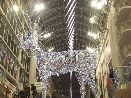 TORONTO - NOVEMBER 20: Christmas decorations unveiled at the Eaton Centre on November 20, 2011 in Toronto, Canada