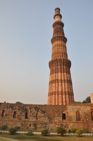 minar: Qutab Minar in Delhi, India Stock Photo