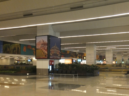 Arrivals at Terminal 3 at the Indira Gandhi International Airport in Delhi, India