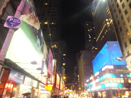 NEW YORK CITY - FEB 18: Times Square, featured with Broadway Theaters and animated LED signs, is a symbol of New York City and the United States, on February 18, 2012 in Manhattan, New York City (USA)  Stock Photo - 12571383