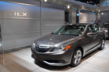 acura: NEW YORK - APRIL 11  Acura ILX at the 2012 New York International Auto Show running from April 6-15, 2012 in New York, NY