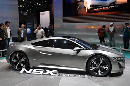 NEW YORK - APRIL 11: The Acura NSX Concept at the 2012 New York International Auto Show running from April 6 to April 15, 2012 in New York, NY. Stock Photo - 13256968