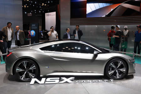 NEW YORK - APRIL 11: The Acura NSX Concept at the 2012 New York International Auto Show running from April 6 to April 15, 2012 in New York, NY. Stock Photo - 13256958