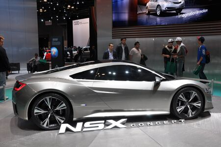 NEW YORK - APRIL 11: The Acura NSX Concept at the 2012 New York International Auto Show running from April 6 to April 15, 2012 in New York, NY. Stock Photo - 13256966