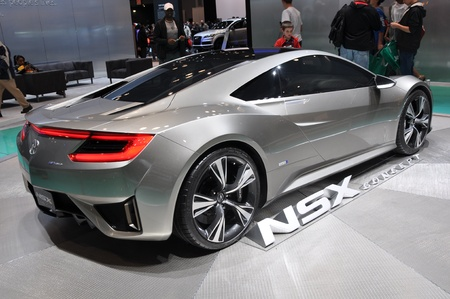 NEW YORK - APRIL 11: The Acura NSX Concept at the 2012 New York International Auto Show running from April 6 to April 15, 2012 in New York, NY. Stock Photo - 13256991