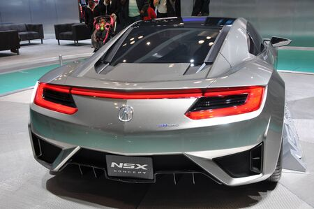acura: NEW YORK - APRIL 11: The Acura NSX Concept at the 2012 New York International Auto Show running from April 6 to April 15, 2012 in New York, NY.