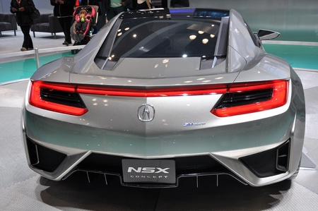 NEW YORK - APRIL 11: The Acura NSX Concept at the 2012 New York International Auto Show running from April 6 to April 15, 2012 in New York, NY.