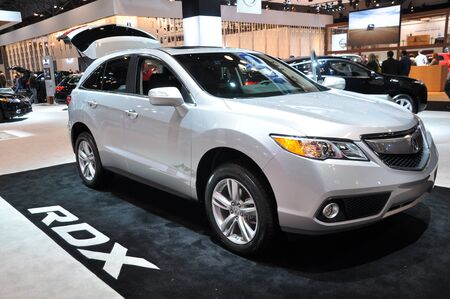 acura: NEW YORK - APRIL 11: Acura RDX SUV at the 2012 New York International Auto Show running from April 6-15, 2012 in New York, NY.