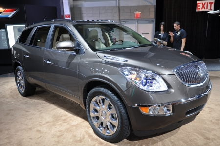 NEW YORK - APRIL 11  The Buick Enclave at the 2012 New York International Auto Show running from April 6-15, 2012 in New York, NY  Stock Photo - 21754548