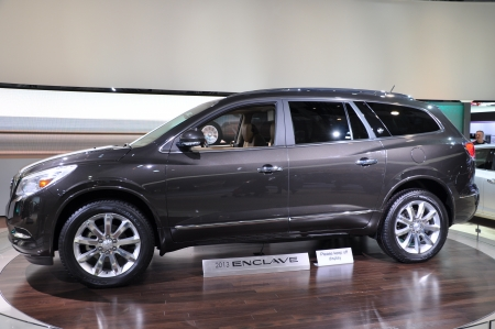 NEW YORK - APRIL 11  The Buick Enclave at the 2012 New York International Auto Show running from April 6-15, 2012 in New York, NY