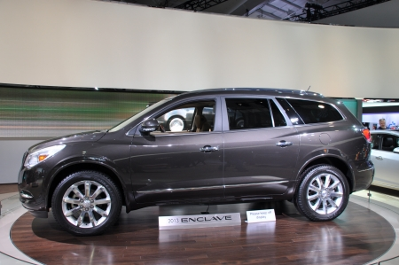 enclave: NEW YORK - APRIL 11  The Buick Enclave at the 2012 New York International Auto Show running from April 6-15, 2012 in New York, NY