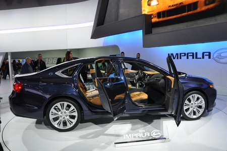 NEW YORK - APRIL 11: Chevy Impala at the 2012 New York International Auto Show running from April 6-15, 2012 in New York, NY. 報道画像