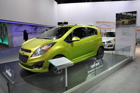 NEW YORK - APRIL 11: The Chevy Spark at the 2012 New York International Auto Show running from April 6-15, 2012 in New York, NY. Stock Photo - 13244355