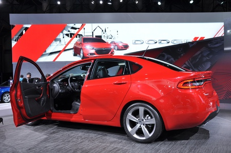 NEW YORK - APRIL 11: The new Dodge Dart at the 2012 New York International Auto Show running from April 6-15, 2012 in New York, NY. Stock Photo - 13244561