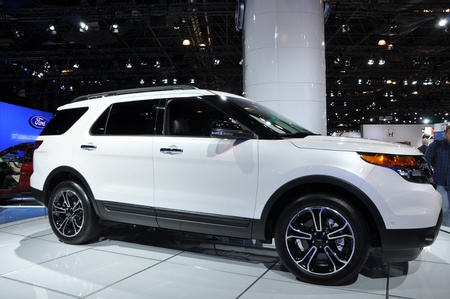NEW YORK - APRIL 11: Ford Explorer at the 2012 New York International Auto Show running from April 6-15, 2012 in New York, NY.