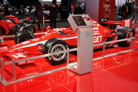 NEW YORK - APRIL 11: The Honda Indy Racer at the 2012 New York International Auto Show running from April 6-15, 2012 in New York, NY. Stock Photo - 13244551