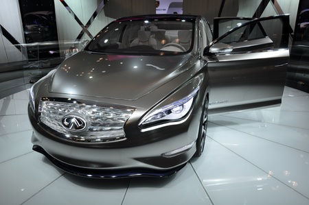 NEW YORK - APRIL 11: The Infiniti LE Concept Car at the 2012 New York International Auto Show running from April 6-15, 2012 in New York, NY. Editorial