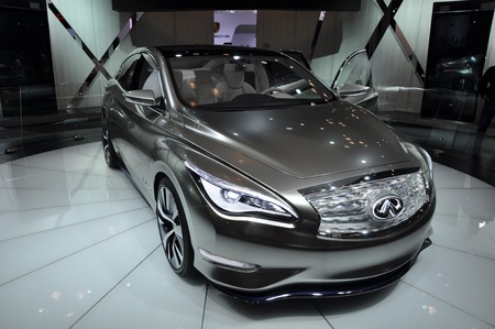 NEW YORK - APRIL 11: The Infiniti LE Concept Car at the 2012 New York International Auto Show running from April 6-15, 2012 in New York, NY. Stock Photo - 13244483