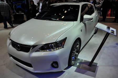 lfa: Lexus CT200h Sport at the 2012 New York Auto Show Editorial