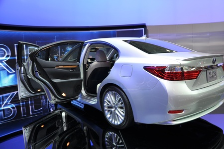 NEW YORK - APRIL 11: The all-new Lexus ES300h Hybrid at the 2012 New York International Auto Show running from April 6-15, 2012 in New York, NY.