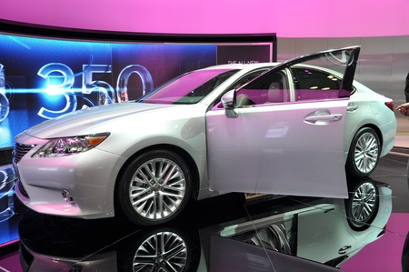 lfa: NEW YORK - APRIL 11: The all-new Lexus ES300h Hybrid at the 2012 New York International Auto Show running from April 6-15, 2012 in New York, NY.