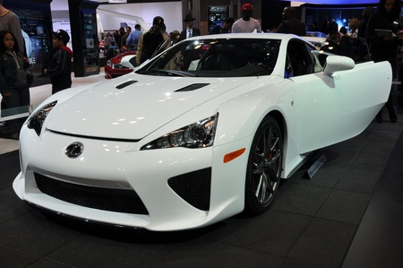 lfa: NEW YORK - APRIL 11: Lexus LFA Concept Car at the 2012 New York International Auto Show running from April 6-15, 2012 in New York, NY. Editorial