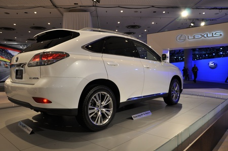 lfa: NEW YORK - APRIL 11: Lexus RX Hybrid SUV at the 2012 New York International Auto Show running from April 6-15, 2012 in New York, NY.