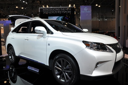 NEW YORK - APRIL 11: Lexus RX Sport at the 2012 New York International Auto Show running from April 6-15, 2012 in New York, NY.