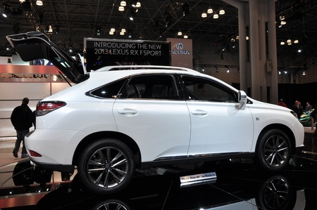 lfa: NEW YORK - APRIL 11: Lexus RX Sport at the 2012 New York International Auto Show running from April 6-15, 2012 in New York, NY.