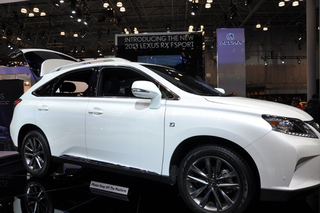 NEW YORK - APRIL 11: Lexus RX Sport at the 2012 New York International Auto Show running from April 6-15, 2012 in New York, NY. Stock Photo - 13226491