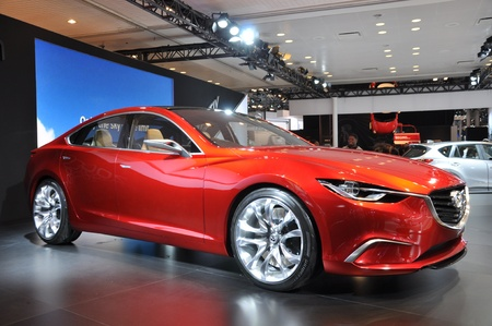NEW YORK - APRIL 11: The Mazda Takeri at the 2012 New York International Auto Show running from April 6-15, 2012 in New York, NY. Stock Photo - 13244403