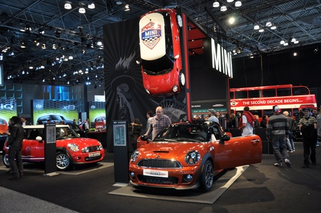 NEW YORK - APRIL 11: Mini Cooper exhibit at the 2012 New York International Auto Show running from April 6-15, 2012 in New York, NY.