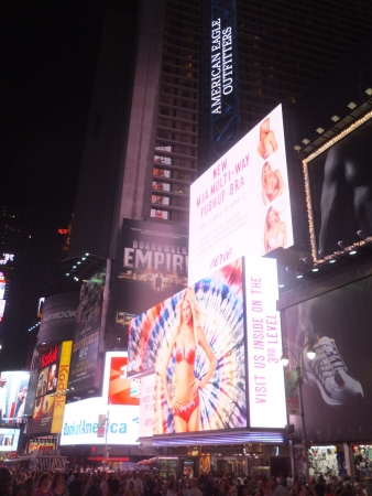 NEW YORK CITY - MAY 26: Times Square, featured with Broadway Theaters and animated LED signs, is a symbol of New York City and the United States, on May 26, 2012 in Manhattan, New York City (USA)