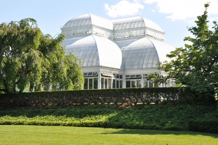 Enid A  Haupt Conservatory at the New York Botanical Garden Stock Photo - 21714219