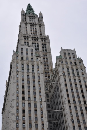 neogothic: Woolworth Building in Manhattan, New York Editorial