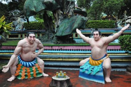 Haw Par ヴィラ タイガー香油庭園シンガポールで 写真素材